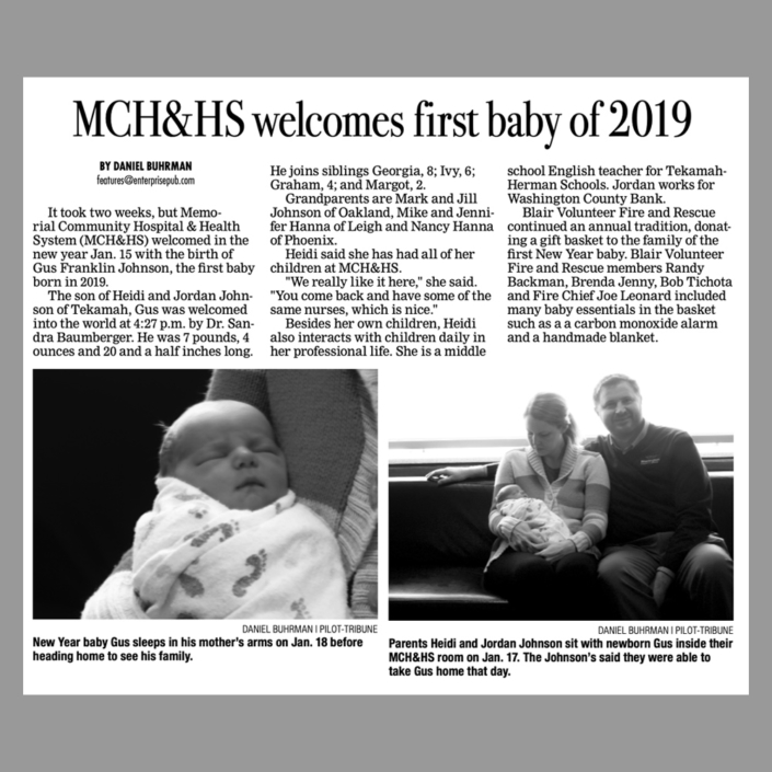 MCH&HS First Baby 2019