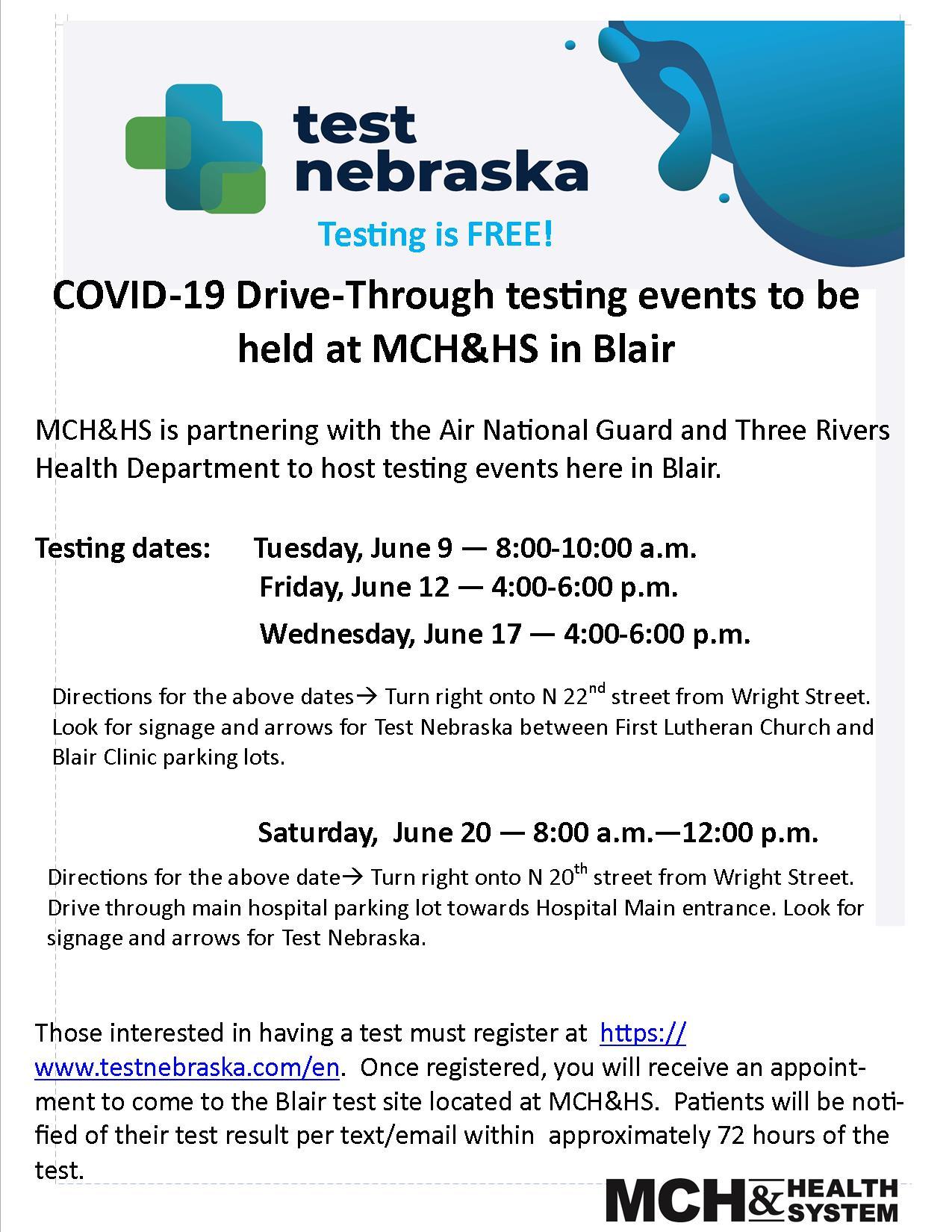 Covid Testing MCHHS Blair
