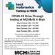 MCH&HS COVID TESTING – OCTOBER 2020 – TESTING IS FREE!