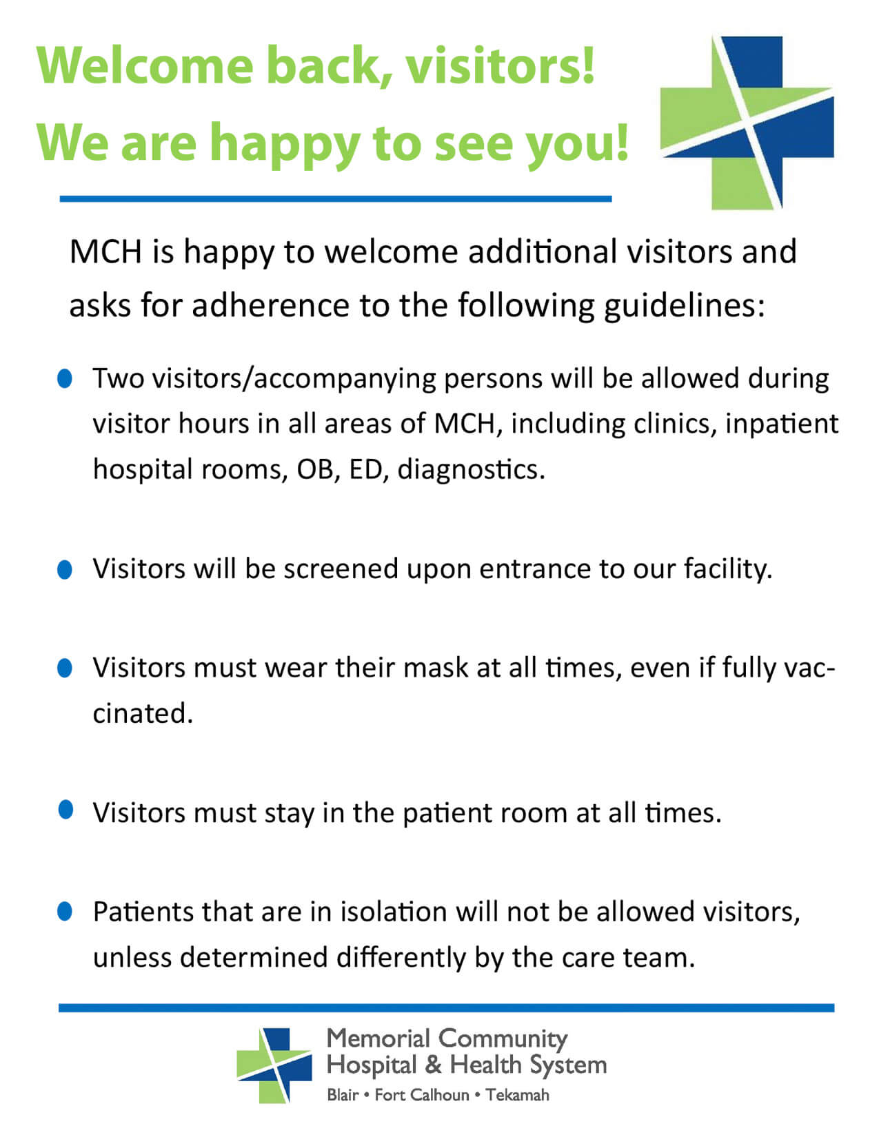 MCH&HS Visitor Guidelines June 2021