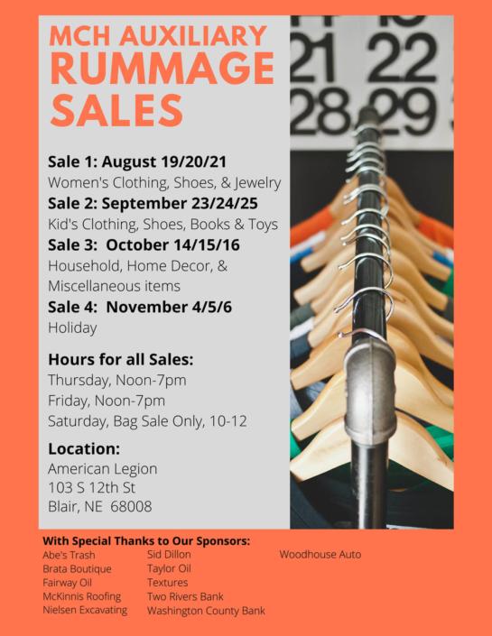 MCH&HS Rummage Sale
