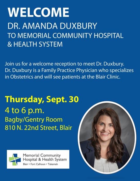 MCH Welcome Doctor Duxbury